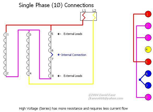 motor connections single phase high voltage this is a high voltage series single phase will be for motors rating of between 210 230v